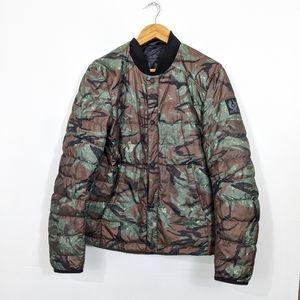 Belstaff Camo Print Down Puffer Jacket XL NWT